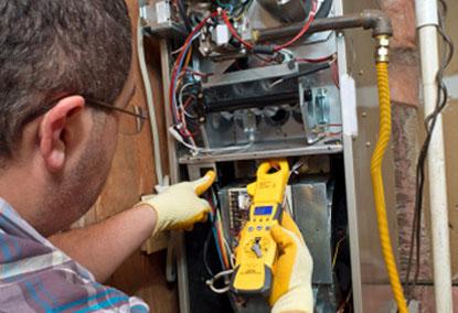 Repairman conducting HVCA repair